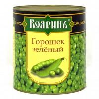"""Горошек  зеленый 1 сорт ж/б """"Бояринъ"""" 3000мл 1/4"""