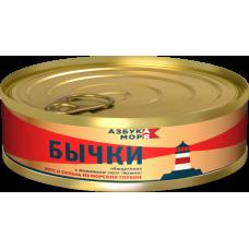 Бычки обжареные в томатном соусе  240 г. б№3 ЛВК 1/48(524)