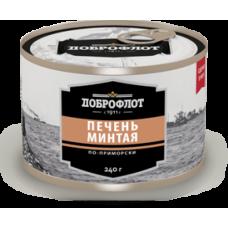 """Печень минтая """"По-приморски"""" """"Доброфлот""""  б№6  240 гр"""